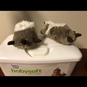 Newborn animal paw slippers